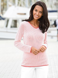 Two-Tone Long Sleeve Sweater product image (368293.LOWH.2.44)
