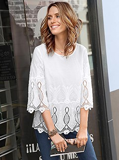 Lace Detailed Tunic product image (368299.OFWH.5.363_WithBackground)