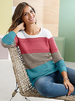 Ribbed And Knitted Sweater product image (368881.RBST.3.1_WithBackground)