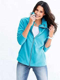 Turndown Collar Fleece Cardigan product image (368887.AQ.3.1_WithBackground)