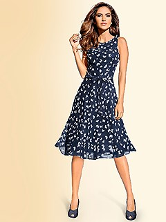 Sleeveless Print Dress product image (370698.NVMU.1.HE)