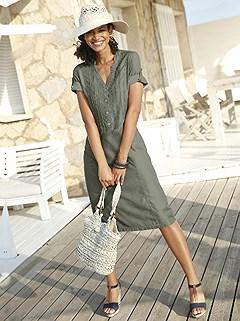 Soft V-Neck Midi Dress product image (372239.KH.1.1_WithBackground)