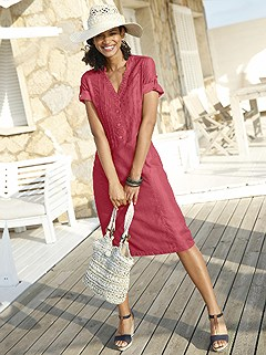 Soft V-Neck Midi Dress product image (372239.RB.1.2_WithBackground)