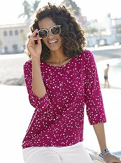 3/4 Length Sleeve Polka Dot Top product image (373119.FSMU.1.1_WithBackground)