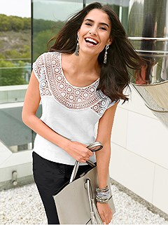 Crochet Lace Insert Top product image (373198.WH.1.HE)
