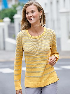 Ribbed Cuff Striped Sweater product image (373720.YLST.2.13_WithBackground)
