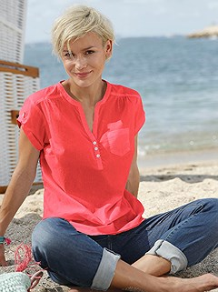 V-Neck Button Panel Blouse product image (374645.CO.2.10_WithBackground)