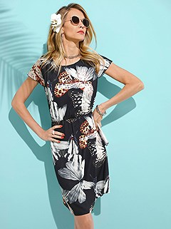 Butterfly Print Dress product image (374801.P7)