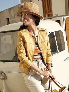 Zip Up Leather Jacket product image (375158.P7)