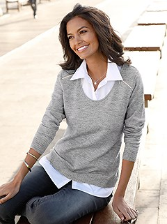 Layered Look Sweater product image (376666.GYMO.1.HE)