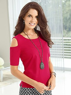 Cold Shoulder Top product image (376705.RD.1.HE)