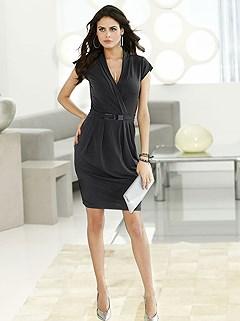 Surplice Mini Dress product image (382402.LS)