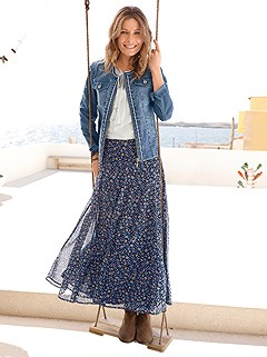 Floral Print Maxi Skirt product image (383079.NVPR.3.14)