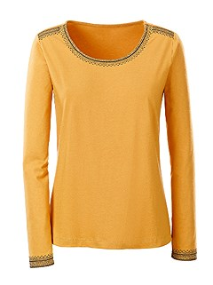 Long Sleeve Hem Detail Top product image (383535.DKYL.1.HE)