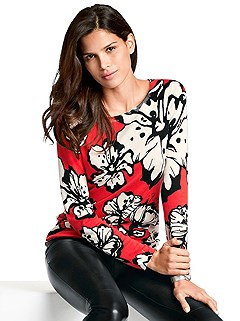 Bold Floral Pattern Sweater product image (383660.ORMU.3)