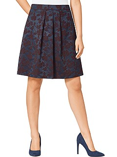 Satin Look Floral Skirt product image (383686.A.1)