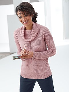 Drawstring Turtleneck Sweater product image (385948.OLRS.2.1_WithBackground)