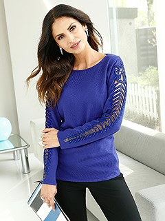 Sleeve Detail Sweater product image (386300.RY.1.HE)