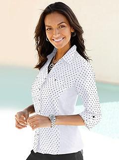 Polka Dot Tab Sleeve Blouse product image (389620.HE)