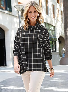 Over Size Checkered Sweater product image (389862.BBPA.6.63_WithBackground)