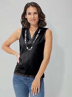 Collared Tank Top product image (390289.BK.1)