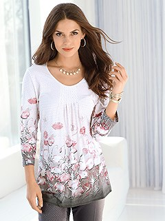 Floral Print Tunic product image (390900.WHMU.1.HE)