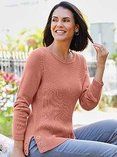 Eyelet Detail Sweater product image (392205.AP.1.1_WithBackground)
