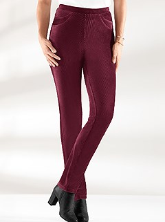 Velvet Slim Pants product image (392409.BORD.2.19_WithBackground)