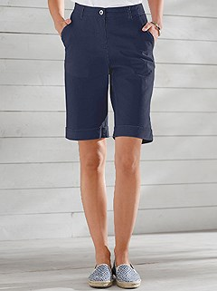 Turn-Up Denim Bermuda Shorts product image (393380.NV.1.1_WithBackground)
