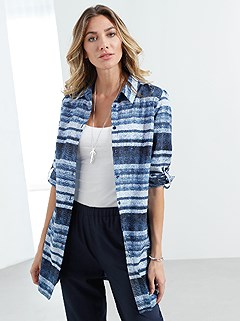 Denim Look Button Up Tunic product image (393818.BLPR.2.1_WithBackground)