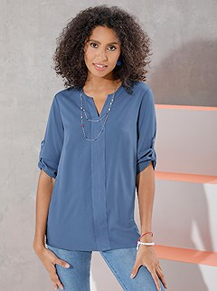 Casual V-Neck Tunic product image (394278.DEBL.3.1_WithBackground)