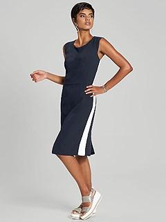 Side Stripe Panel Dress product image (394428.NVWH.1)