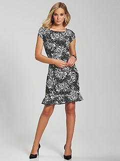 Lace Floral Print Dress product image (394638.BKPR.1)