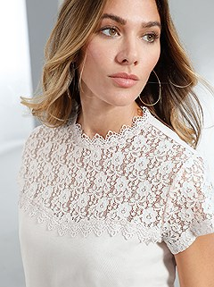 Floral Lace Stand Up Collar Top product image (394841.EC.2.3_WithBackground)