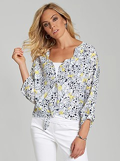 Floral Polka Dot Blouse product image (394991.WHPR.2)