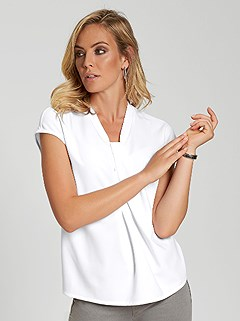 Knotted V-Neckline Top product image (394993.WH.2)