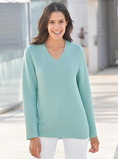 V-Neck Sweater product image (395240.TQ.2.1_WithBackground)