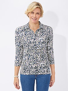 Animal Print Polo Top product image (395290.OLPR.3.1_WithBackground)