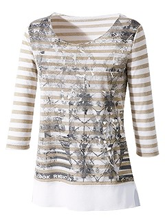 Print Motif Striped Top product image (395448.BEST.1)