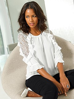 035a81eee6 lace shoulder blouse $49 $34