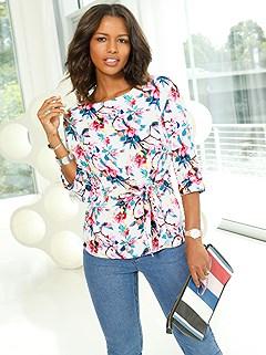 1b5c32311d5a47 floral side tie blouse  59
