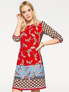 Mix Print Dress product image (396025.RD.1)