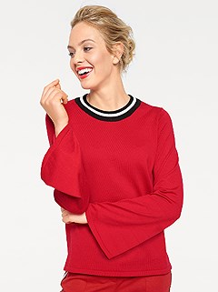 Bell Sleeve Sweater product image (396028.RD.1)