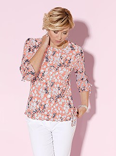 Wavy Hem Floral Pattern Top product image (397837.APMU.2.1_WithBackground)