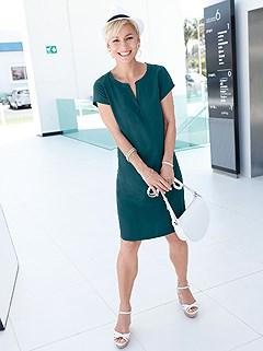 V-Neck Dress product image (397980.DKGR.1)