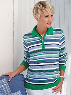 Striped Collar Sweater product image (397982.GRST.1.P)