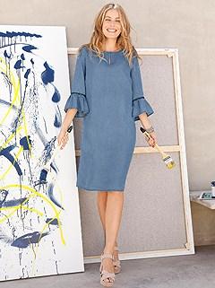 Boho Denim Dress product image (398060.DEBL.1)
