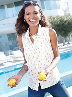 Lemon Print Tank Top product image (398100.YLMU.1-S)
