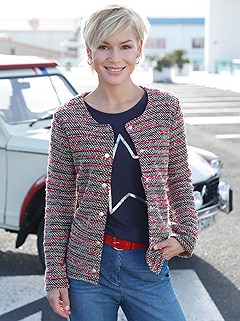 Tweed Effect Jacket product image (398239.FSST.2.398255.NV.002)