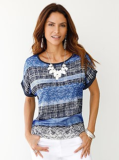 Striped Mix Top product image (398443.BLPR.2)